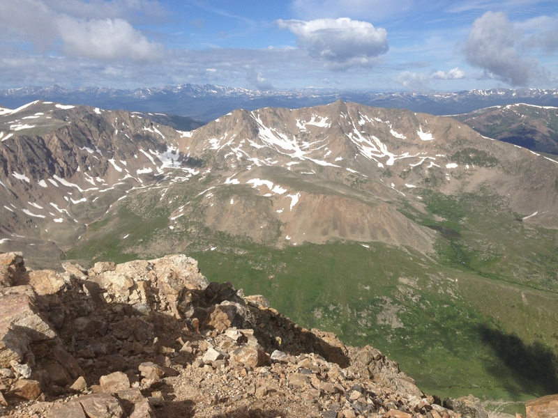 Mt Arkansas viewed from the summit of Mt Democrat