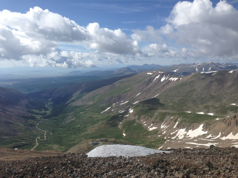 Buckskin Creek from the summit of Mt Democrat