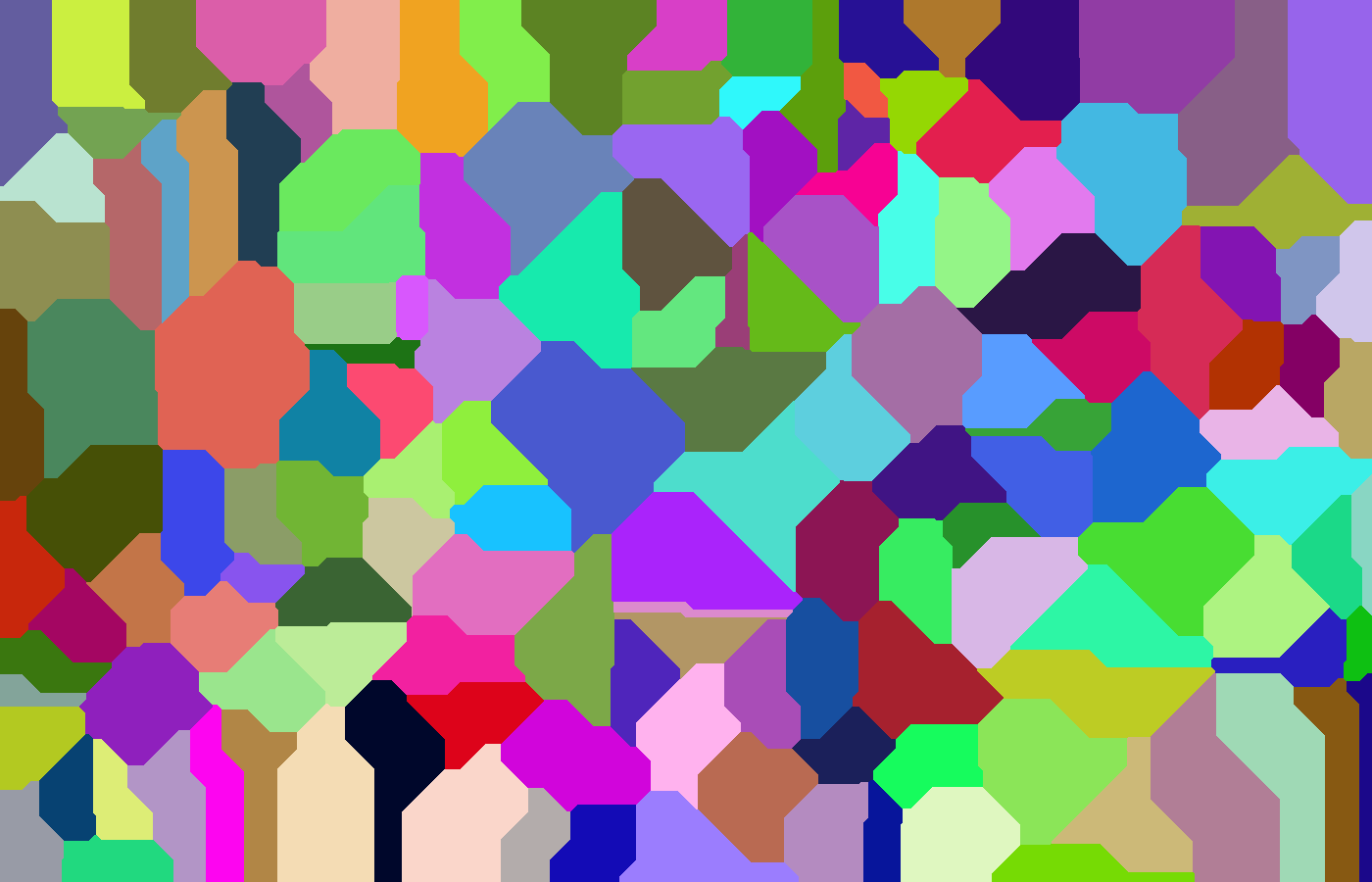 Voronoi diagram - Manhattan distance