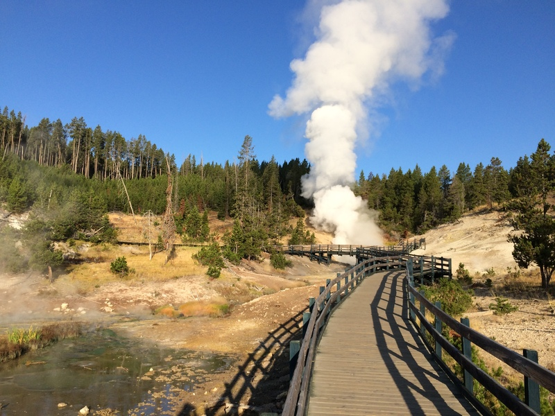Hot spring steam